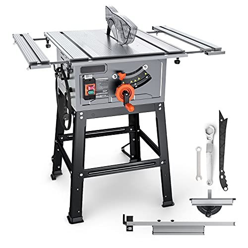 Table Saw, 15A 10-Inch, 4800RPM, 25.3''x 28.3'' Extension Table saw,Cutting Capacity : 2-4/5'' at...