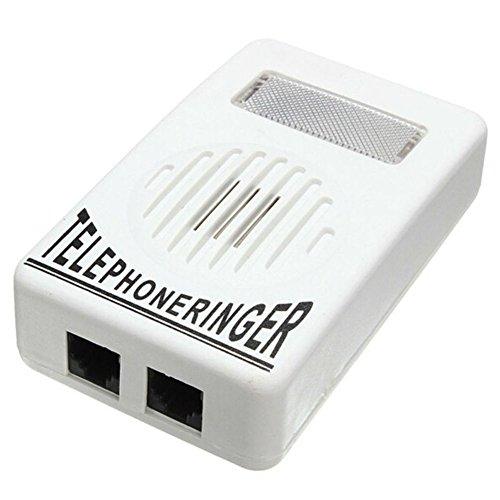AKOAK Loud Sound Telephone Ring Ringer Amplifier Volume Enhancer with Light Flasher for Landline Telephone