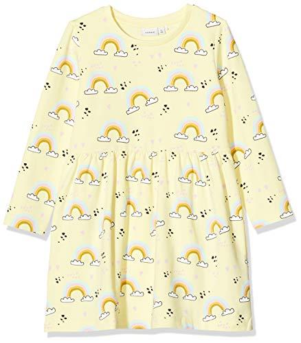 NAME IT Mädchen NMFTILLY LS SWE Dress UNB Kleid, Mehrfarbig (Lemonade), 110