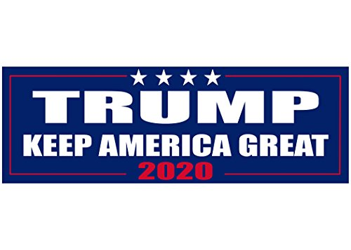 Keep America Great Elect President Donald Trump 2020 Election Patriotic Bumper Sticker Car Decal Conservative Republican USA
