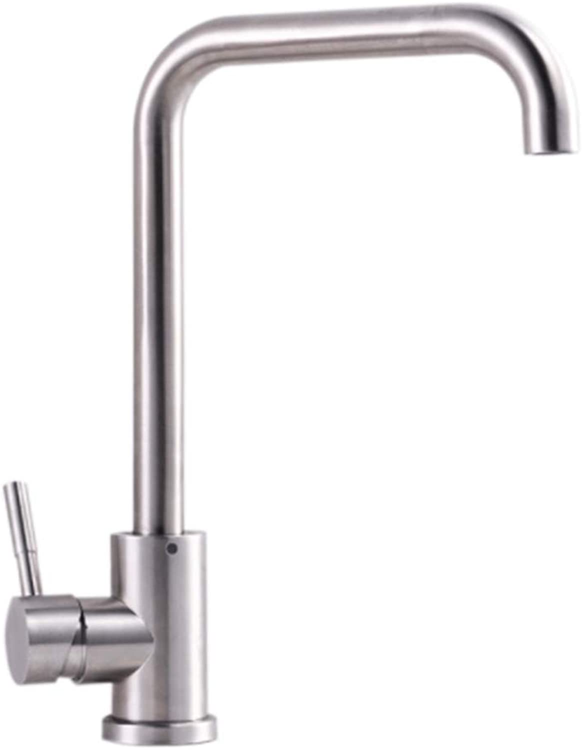 Lead-Free 304 Stainless Steel Kitchen Faucet 360 Degree redary hot and Cold Dish pots Faucet