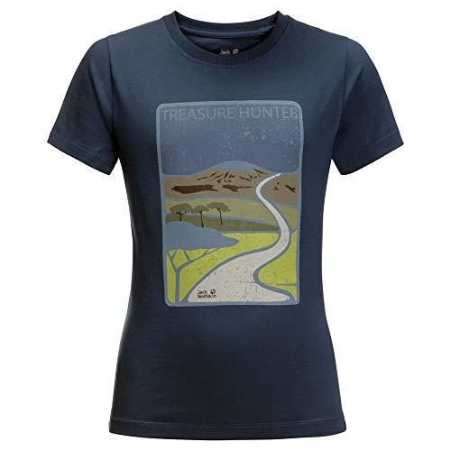 Jack Wolfskin Kinder Treasure Hunter T-Shirt, Dark Indigo, 128