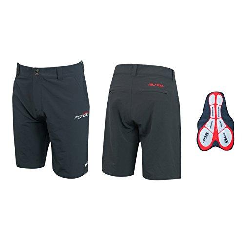 Force Blade MTB - Pantaloncini corti da ciclismo, vestibilità super aderente (nero, L)