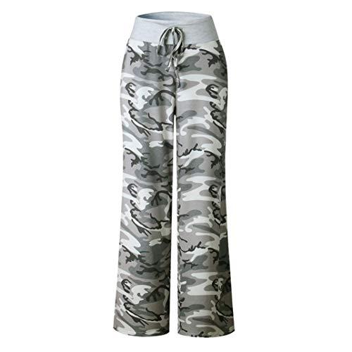 Toamen Camouflage Imprimés Pantalon Femmes Pantalon large à cordon leggings Pantalon large décontracté En vrac (XL, Camouflage)