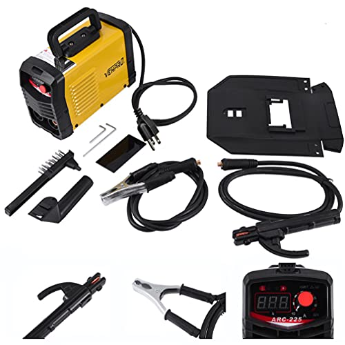 Portable MIG Welding Equipment Welder Flux Core Wire Automatic Feed Welding Machine,DIY Home Welder With Wrench,110V Yellow