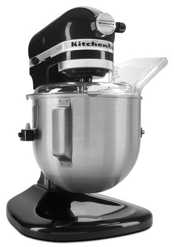 KitchenAid KSM500PSOB Pro 500 Series 10-Speed 5-Quart Stand Mixer, Onyx Black (Renewed)