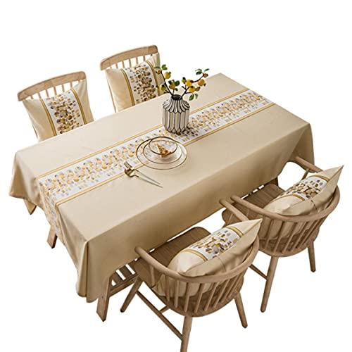 Nuevo Mantel de Lino Impermeable de algodón de Color sólido para Hotel, Mesa de Picnic, Fundas de Mesa rectangulares, Comedor en casa, decoración de Mesa de té-07,135x240cm