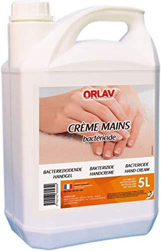 Savon Liquide mains - Savon Main - Crème mains - Crème lavante pour Mains - Créme lavante mains Bactéricide - ORLAV - Bidon 5L