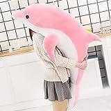 30-160cm Suave delfín de Peluche de Juguete de Tela de Felpa muñeca de algodón Animal Almohada para la Siesta Juguetes creativos para niños Regalo de cumpleaños niña 120cm Rosa