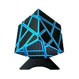 Nxxlfsb キューブゴースト炭素繊維ルービックキューブ教育玩具ブルーキューブ 調節可能な締め付け (Color : Blue)