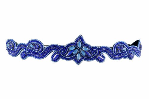 Pink Pewter Authentic 'Harley' Blue Beaded Stretch Band Headband Hair Jewelry