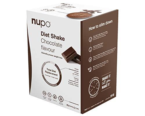 NUPO Diet Shake Schokolade – Premium Diät-Shake zum Abnehmen I Klinisch geprüfter Mahlzeitersatz für effiziente Gewichtsabnahme I 12 Portionen I Very low calorie diet, glutenfrei, GMO frei