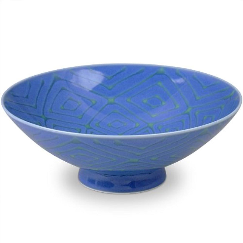 富ボックス側白山陶器 平茶わん 青 (約)φ15×5.3cm  FI-7 森正洋デザイン 波佐見焼 日本製