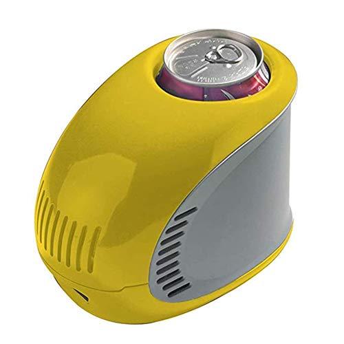 FQY-BX Mini réfrigérateur Réfrigérateur 0.35L Petite Boisson Maison Mini-réfrigérateur USB Charge Voiture Auberge 17 * 10.6 * 13cm -Multi-Couleur en Option (Color : Yellow)