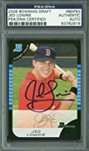 Red Sox Jed Lowrie Authentic Autographed Signed Card 2006 Bowman Draft Rc #Bdp93 Psa Slabbed