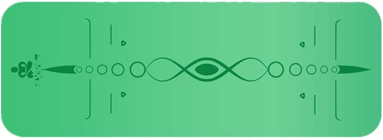 アウトドアスポーツアクセサリー 5 Mm厚いテクスチャ滑り止めグリーンピラティスマット男性と女性PUスポーツヨガマット (色 : 緑, サイズ : 185cm*68cm*5mm)
