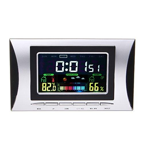 Tutoy H102Dc-Color Lcd Display Multifunctioneel Weerstation Thermometer Vochtigheid Tester Elektronische Tafelklok