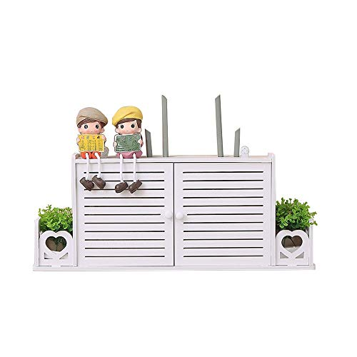 Lagerregal - Aufbewahrungsbox Für WLAN-Router, Wandmontiertes WLAN-Rack, Praktische Geschlossene Set-Top-Box