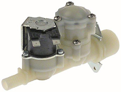 RPE Vanne magnétique pour connecteur CONVOTHERM 6,3 mm Sortie 11 mm Modèle droit avec réduction de pression à 1 bar