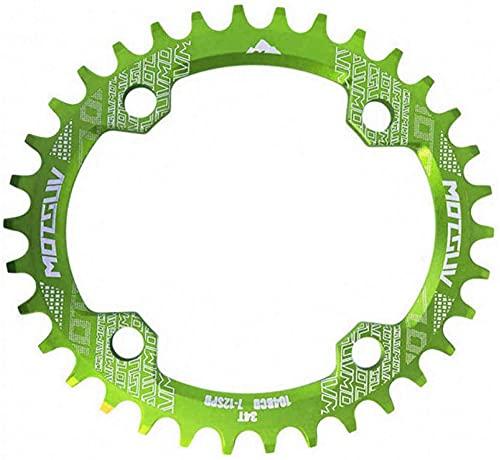 ZHTT Ajuste para 104Bcd Plato Ancho Estrecho Ovalado MTB Bicicleta de montaña Bicicleta 32T 34T 36T 38T Juego de bielas Piezas de Placa de un Solo Diente 104 Bcd Plato de Bicicleta