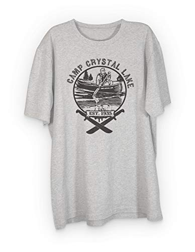 Camp Crystal Lake Jason T-Shirt (Medium, Sport Grey)