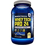 BodyTech Whey Tech Pro 24 Protein Powder Protein Enzyme Blend with BCAA's to Fuel Muscle Growth Recovery, Ideal for PostWorkout Muscle Building Vanilla Ice Cream (2 Pound)