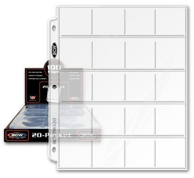 "BCW Pro 20-Pocket Pages, Pocket Size: 2"" x2"", 20 Pages - Coin Collecting Supplies 3-Pack"
