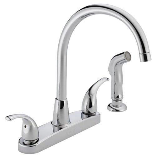 Peerless Tunbridge 2-Handle Kitchen Sink Faucet with Side Sprayer, Chrome P299578LF