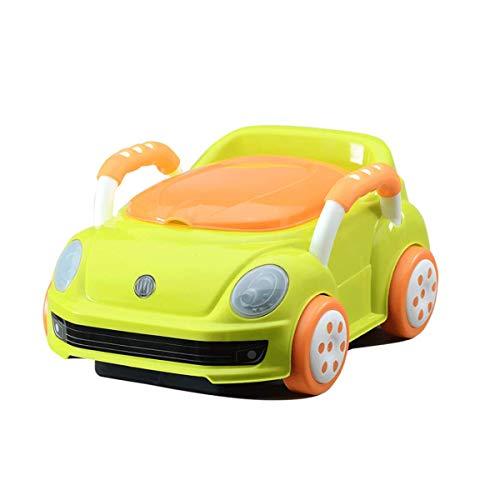 Practical Products Bébé Kid Potty Formation WC Enfant en Bas âge Pottys Cartoon Garçons Toy Car Design and Girls Green-40 * 31 * 21 cm
