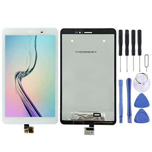 Mingxian Vuelva a Colocar la Pantalla LCD y digitalizador Asamblea Completa for Huawei MediaPad T1 8.0 Pro (Blanco) (Color : White)