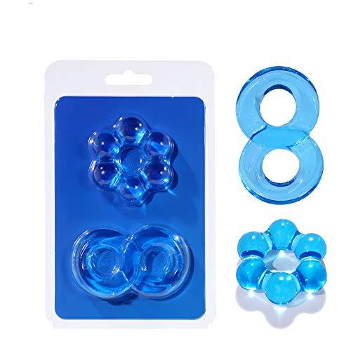 Bague homme en cristal transparent bleu