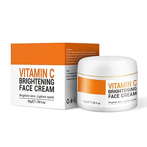 Onkessy Crema hidratante para rostro con vitamina C, 20% VC, antienvejecimiento y antiarrugas, crema facial ligera, crema para aclarar la piel, 50g