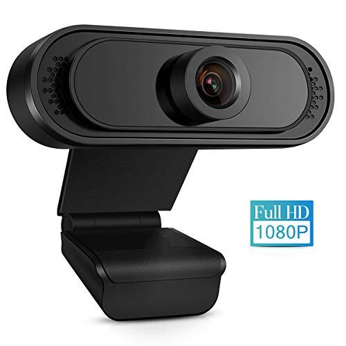 TMEZON Webcam mit Mikrofon, Full HD 1080P Streaming Webcam für PC, Laptop, Mac, Plug-and-Play Webcam USB mit Autofokus und Weitwinkel für YouTube, Skype Videoanrufe, Lernen, Konferenz, Spielen,W05