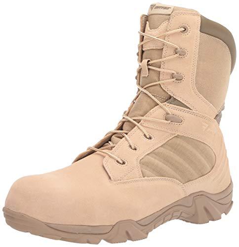 Bates mens Gx-8 Composite Toe Side Zip Work Boot, Desert, 10.5 US