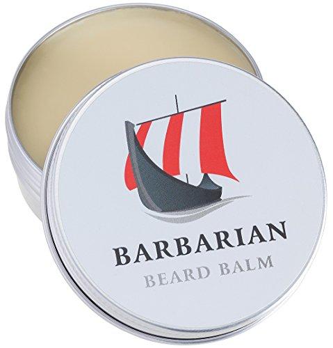 Baume à barbe Barbarian - 60 g - Pour un soin parfait de la barbe - Notre baume à barbe combine style et soin pour une barbe souple et douce avec de l'huile d'argan.