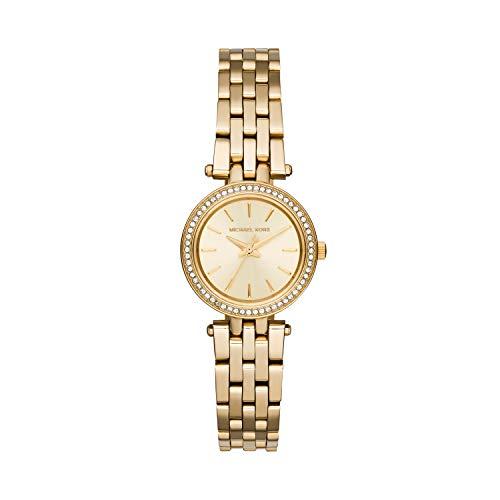 Michael Kors dames analoog kwarts horloge met witgoud armband MK3295