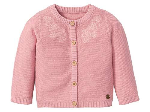lupilu Baby Mädchen Strickjacke Jacke 100% Bio-Baumwolle Rosa 86-92