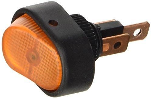 HELLA 6EH 007 946-031 Schalter - Kippbetätigung - Anschlussanzahl: 3 - geschraubt - Bohrung-Ø: 12mm - Wechsler - Schalterbeleuchtung: orange