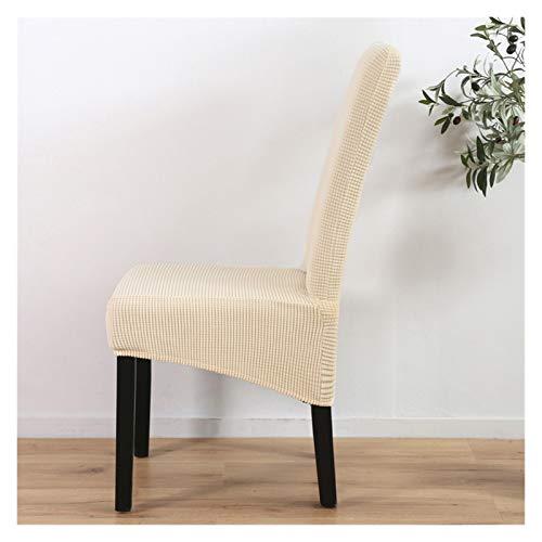 Bequemer Stuhlbezug Jaquard Stuhlbezug Spandex XL Groß Elastisch Stretch Sitzbezug für Esszimmer Bankett Party Hotel Hochzeit Stoff Material (Farbe: Creme, Spezifikation: L)