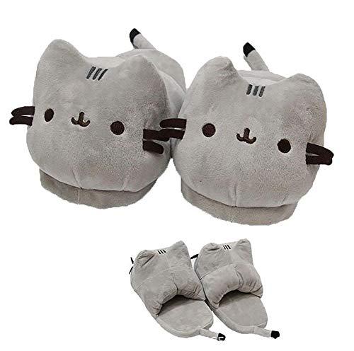 SHANGXIAN Frauen Anime Katze Hausschuhe Paar warm Weich und bequem Plüsch Schuhe Zuhause Indoor Hausschuhe,36~42(280mm)