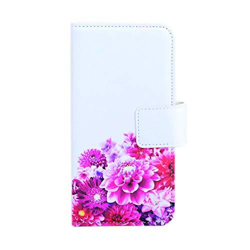 Gucciny&Co フラワーデザイン アイコスホルダーBOOKタイプ アイコス ケース アイコス の ケース 手帳型 携帯 Iqos ケース タバコ (ホワイトピンク)