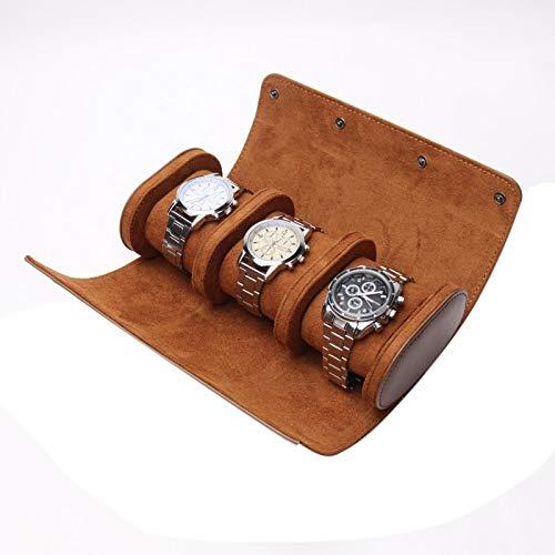 Chytaii 3 Slots Uhrenbox Retro Pu Leder Uhrenrolle Reisetasche Elastische Uhr Veranstalter Halter Schmuck Aufbewahrungsbox für männer Damen