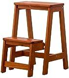 Cesto sucio Taburete Dos Taburete de Paso, escaleras de Tijera Plegable Cubierta Escalera de Madera Perchero Escabel Sala Flor sillas Plegables (Color : Brown, Size : 29 * 48.5 * 55)