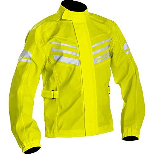 Richa Chubasquero para bicicleta, ropa de lluvia elástica, unisex, multiusos, para todo el año amarillo neón XL