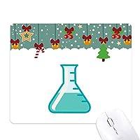 試験管液体科学実験 ゲーム用スライドゴムのマウスパッドクリスマス