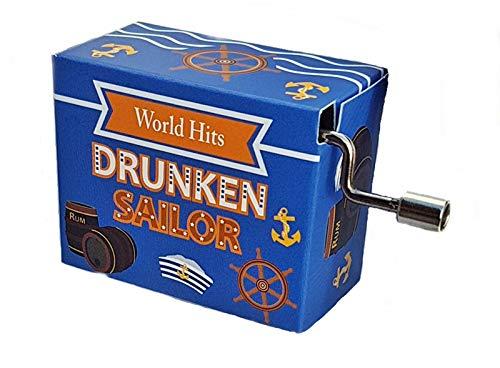 Fridolin Drunken Sailor Welt Hit Mini Drehorgel Spieluhr Kurbelwerk World Hit
