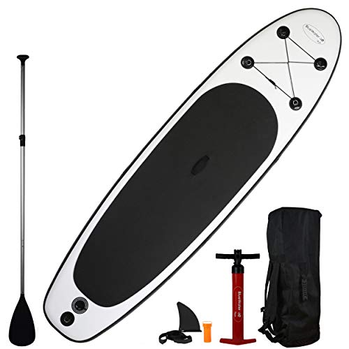 """11' Premium Inflatable Stand Up Paddle Board Set (34"""" Width)   Improved Stability and Extra Support   Ocean Riding, Yoga   SUP 350lb limit"""