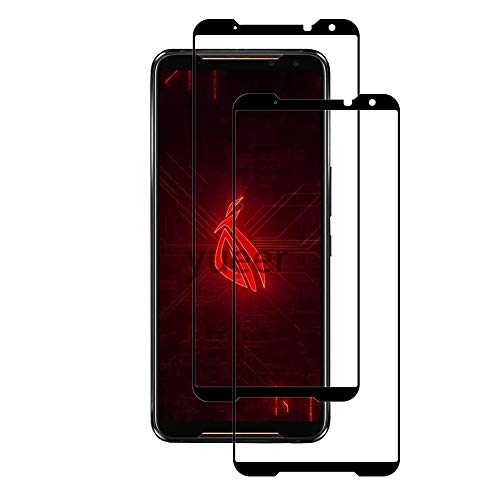 yueer [2 Piezas ASUS ROG Phone II ZS660KL Protector de Pantalla,[ 9H Dureza ][Alta Definicion] Cristal Templado ASUS ROG Phone II ZS660KL-Negro