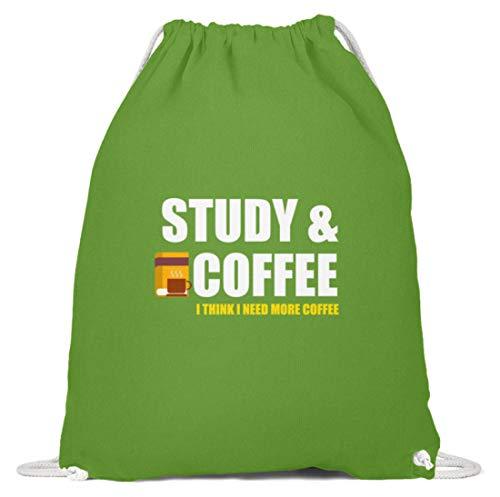 Schuhboutique Doris Finke UG (haftungsbeschränkt) studieren Kaffee - ich brauche mehr Kaff - Baumwoll Gymsac -37cm-46cm-LimettenGrün