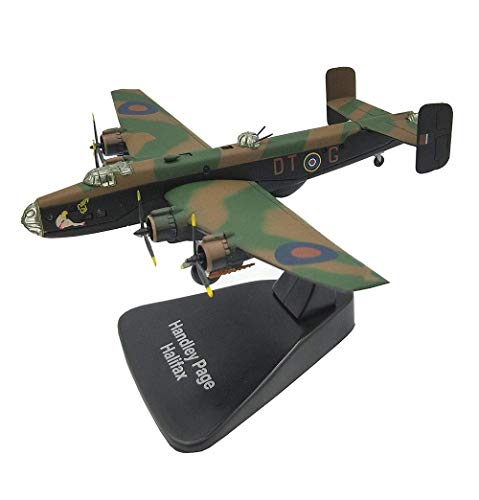 JHSHENGSHI 1/144 Scale Fighter Alloy Model, Military Halifax Fighter Toys Adult Collectibles And Gifts, 8.7Inch X6.3Inch